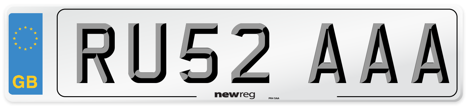 RU52 AAA Number Plate from New Reg